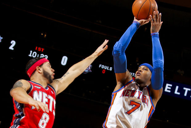 Carmelo Anthony y Deron Williams./ Getty Images