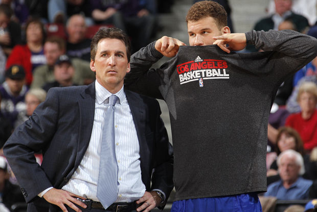 Vinny Del Negro y Blake Griffin./ Getty Images