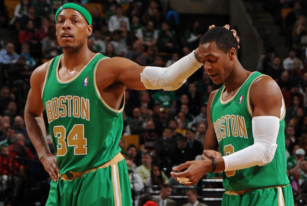 Paul Pierce #34 y Rajon Rondo #9./ Getty Images