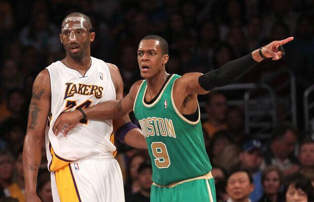 Rajon Rondo y Kobe Bryant./ Getty Images