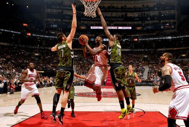 Toronto Raptors contra Chicago Bulls./ Getty Images