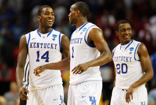 Michael Kidd-Gilchrist #14, Darius Miller #1 y Doron Lamb #20./ Getty Images