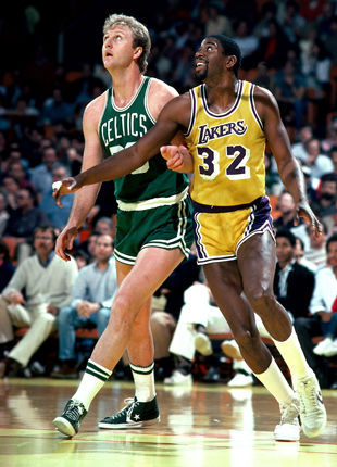 Larry Bird y Magic Johnson./ Getty Images