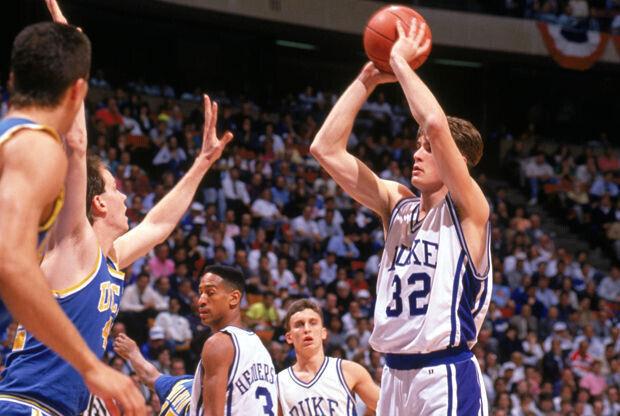 Christian Laettner #32 de Duke University Blue Devils./ Getty Images