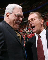 Phil Jackson y Pat Riley./ Getty Images