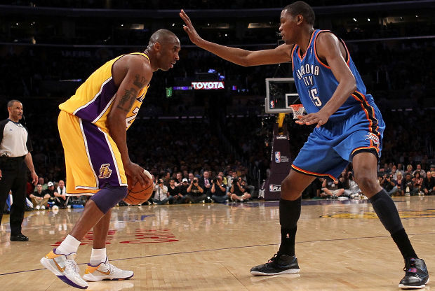 Kobe Bryant y Kevin Durant./ Getty Images