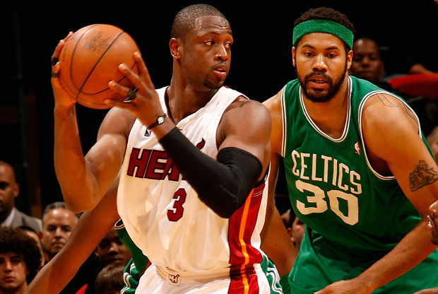 Dwyane Wade y Rasheed Wallace./ Getty Images