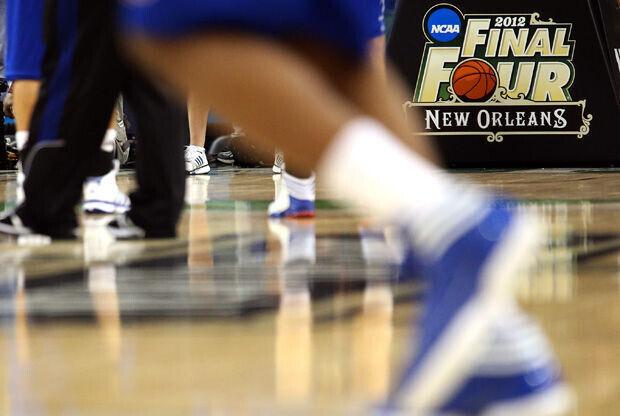El logo de la Final Four de la NCAA luce en el Mercedes-Benz Superdome de New Orleans./ Getty