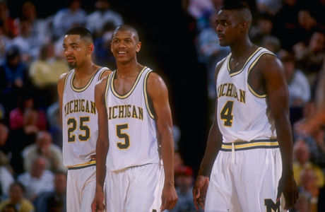 Juwan Howard, Jalen Rose y Chris Webber./ Getty
