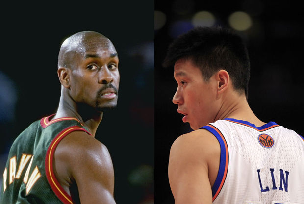 Gary Payton y Jeremy Lin./ Getty Images