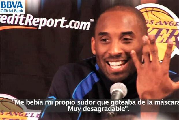 Kobe Bryant, en la rueda de prensa./ Getty