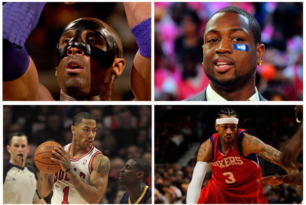 Bryant, Wade, Rose e Iverson./ Getty