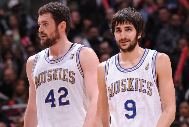 Kevin Love y Ricky Rubio./ Getty Images