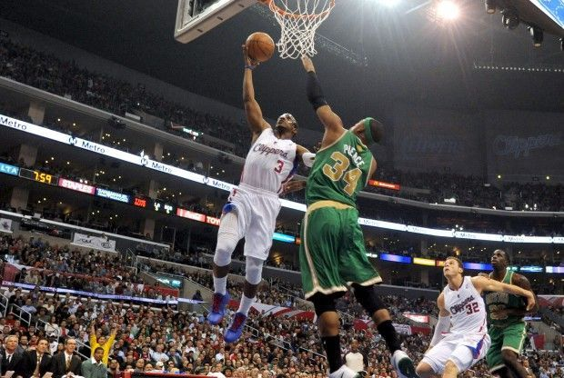 Chris Paul y Paul Pierce./ Getty Images