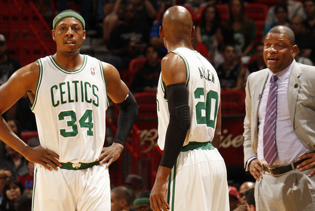 Paul Pierce #34 and Ray Allen