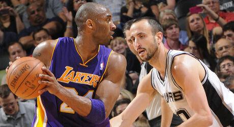 Kobe Bryant y Manu Ginóbili./ Getty Images