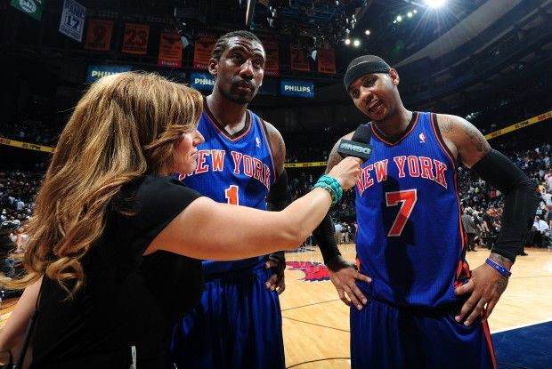 Amar'e Stoudemire y Carmelo Anthony./ Getty Images