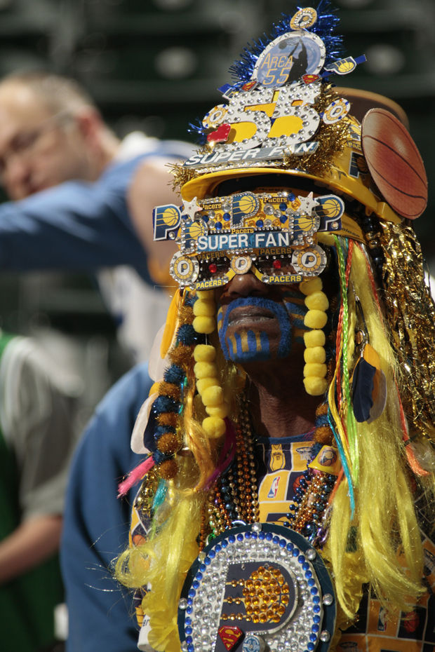 Aficionado azteca de Indiana Pacers./ Getty Images