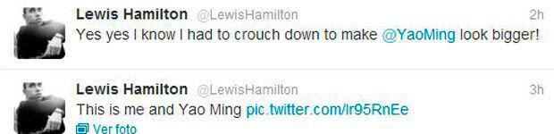 Twitter de Lewis Hamilton