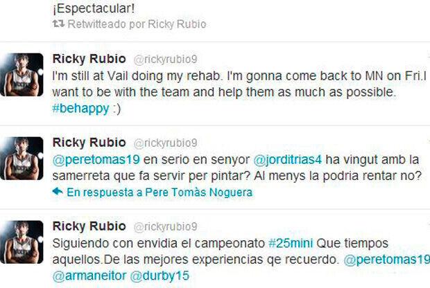 Tuit de Ricky Rubio