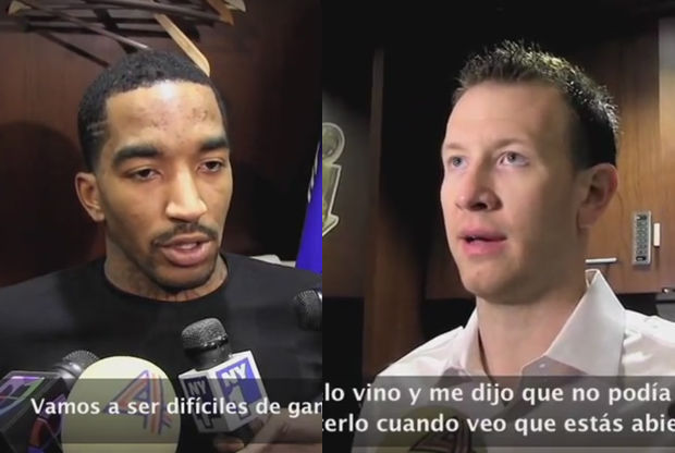 JR Smith y Steve Novak./ Getty Images