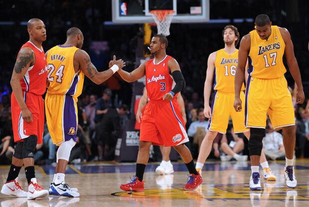 Imagen de un partido entre los Lakers y los Clippers./ Getty