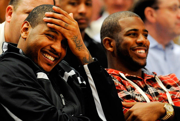 Carmelo Anthony y Chris Paul./ Getty