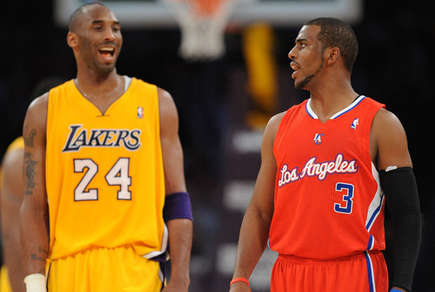 Kobe Byant y Chris Paul./ Getty