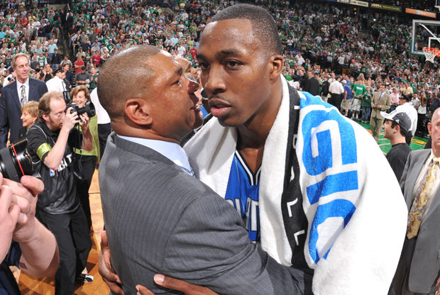 Doc Rivers y Dwight Howard./ Getty Images