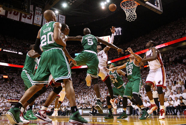 Boston Celtics vs Miami Heat./ Getty  Images