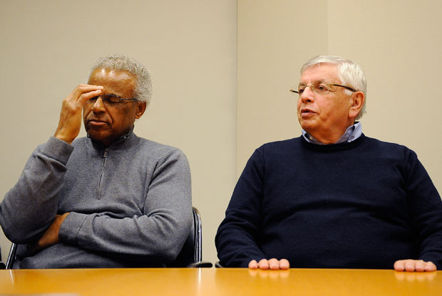 Billy Hunter y David Stern./ Getty Images