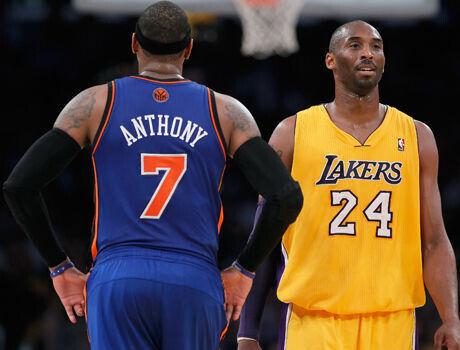 Carmelo Anthony y Kobe Bryant./ Getty Images