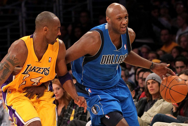Lamar Odom y Kobe Bryant./ Getty Images