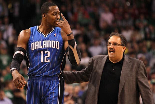 Dwight Howard y Stan Van Gundy./ Getty Images