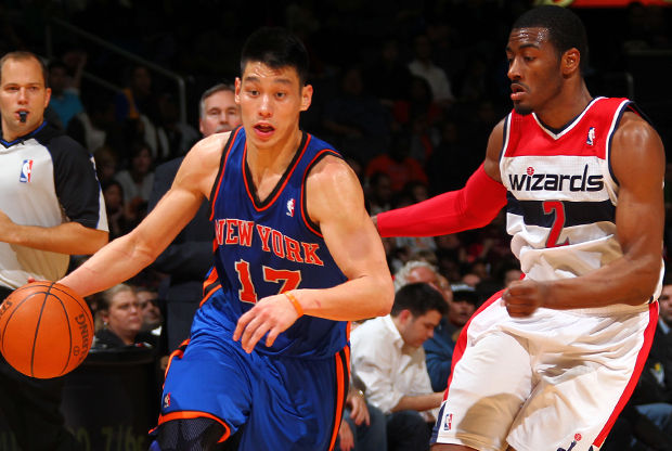 Jeremy Lin y John Wall./ Getty Images