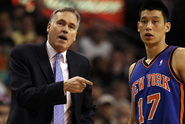 Mike D'Antoni y Jeremy Lin./ Getty Images
