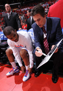 Vinny Del Negro y Chris Paul./ Getty Images