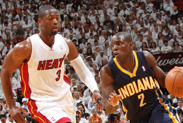 Darren Collison y Dwyane Wade./ Getty Images
