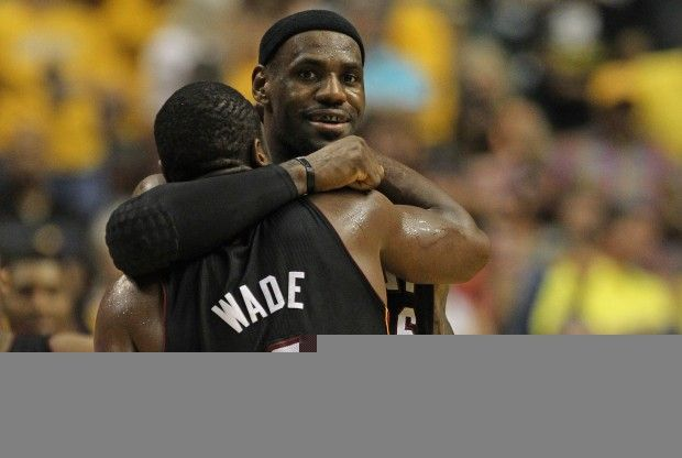 LeBron James y Dwyade Wade./ Getty Images