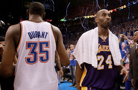 Kobe Bryant y Kevin Durant./ Getty Images