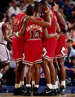1992 NBA Playoffs:  Chicago Bulls vs. New York Knicks./ Getty Images