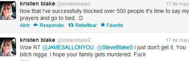 Mensajes de twitter de Kristen Blake