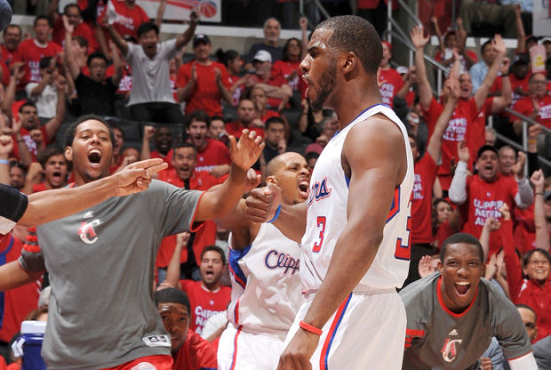 Chris Paul celebra una canasta./ Getty