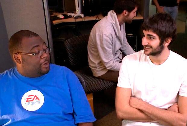 Ricky Rubio, en las instalaciones de EA SPORTS Tiburon Studio
