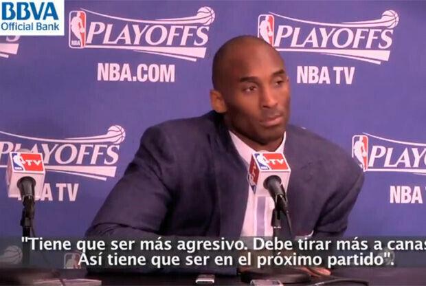 Kobe Bryant, durante la rueda de prensa