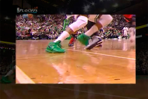 Imagen de la jugada en la que Pierce se lastima la rodilla