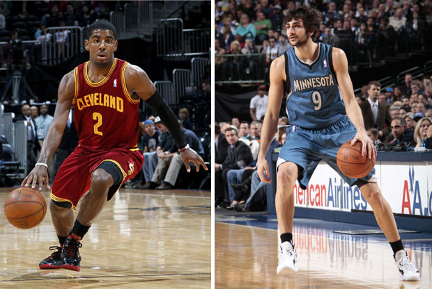 Kyrie Irving y Ricky Rubio./ Getty Images