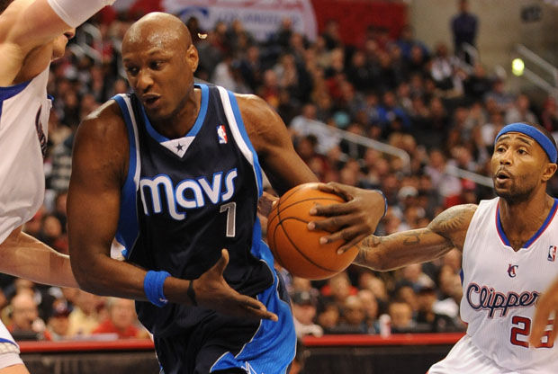 Lamar Odom y Mo Williams./ Getty Images