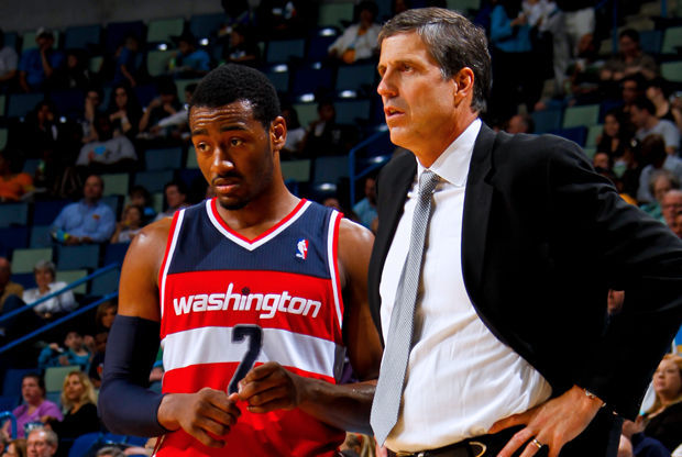 Randy Wittman y John Wall./ Getty Images