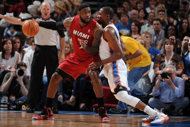 LeBron James y Kevin Durant./ Getty Images